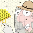 Stock Photo: Beekeeper pointing
