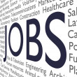 Jobs text - Foto Stock