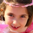 Cute Smiley Little Girl Looking — Foto de Stock