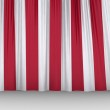 Red curtain fabric background texture — Stock Photo