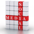 Social Media. cubes crossword series — Foto de Stock