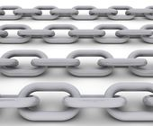Chain isolated on white background - perfect tiled — Stock Photo