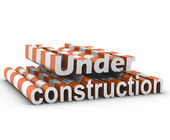 Under construction sign 3d illustration — Stock Photo