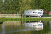 Caravan plaats — Stockfoto
