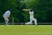 Hráč kriketu — Stock fotografie