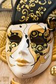Golden Venetian mask — Stock Photo