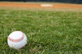 Baseball on Field — Stock Photo