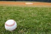Baseball on Field — Stock Photo