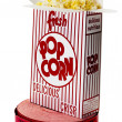 Popcorn and Movie Tickets Isolated — Stock Photo