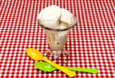 Vanilla Ice Cream and Spoons — Stock Photo