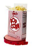 Popcorn and Movie Tickets Isolated — Stock Photo