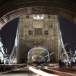 Traffic on The Tower Bridge at night in London, UK — Stock Photo #5588766