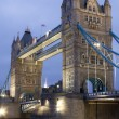 Tower Bridge at night, London, UK — Stock Photo