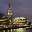 Night view of the London City Hall — Stock Photo
