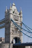 Detail of Tower Bridge - London, under the bridge view. — Stock Photo
