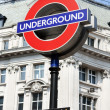 Bond street underground sign, London — Stock Photo