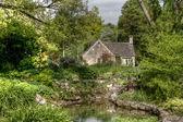 Giardino tipico cotswolds a bibury — Foto Stock