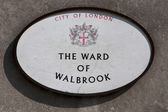 City of london sign, The Ward of Walbrook — Stock Photo