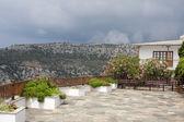 St. Erzengel Michael Kloster Garten, Thassos island — Stockfoto