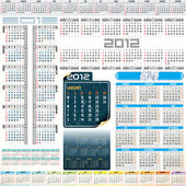 Kalender 2012 — Stockvektor