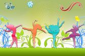 Inlagda dans — Stockfoto