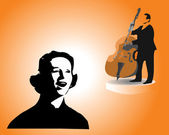 The jazz singer — Stock Vector