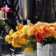 Roses on a florist stall - Stock Photo