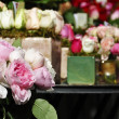 White, pink and red roses — Stock Photo