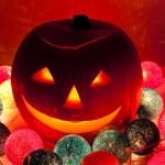 Halloween lantern — Stock Photo