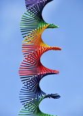 Rainbow colored spiral — Stock Photo