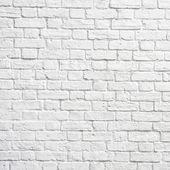 Bílá cihlová zeď — Stock fotografie