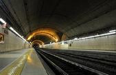 Underground train station — Stock Photo