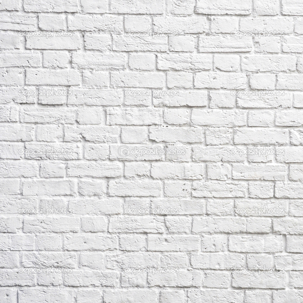 White brick wall, perfect as a background, square photograph — Lizenzfreies Foto #6321382