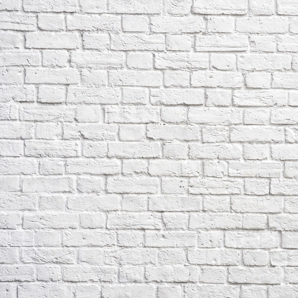 White brick wall, perfect as a background, square photograph — Stock Photo #6321382