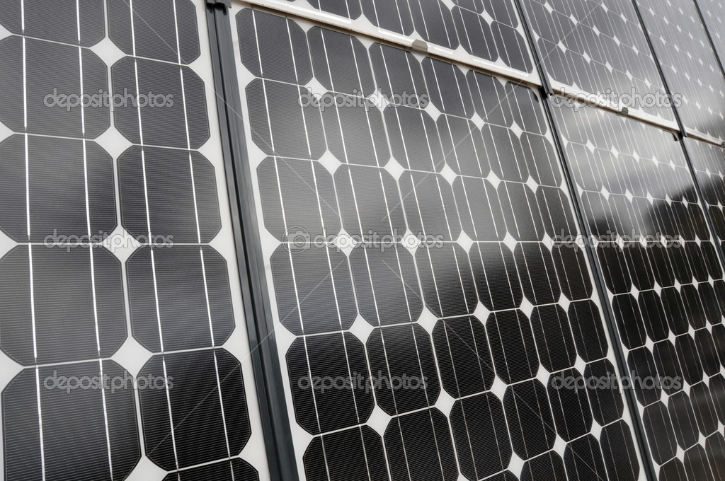 Detail of a solar panel — Stock Photo #6321490