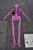 Pink skeleton — Stockfoto
