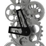 Metal clock mechanism — Stock Photo #6412123