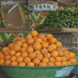Oranges at a local market — Stock Photo