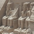 Stock Photo: Statues of Ramses II at entrance to Abu Simbel