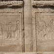 Hieroglyphic carvings on an Egyptian temple wall — Стоковая фотография