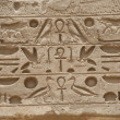 Stock Photo: Egyptian hieroglyphics on a temple wall