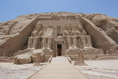 Entrance to the Temple at Abu Simbel — 图库照片