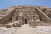Ingang van de tempel in abu simbel — Stockfoto
