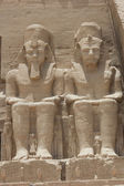 Statue of Ramses II at Abu Simbel — Stock Photo