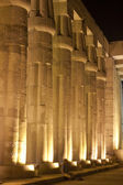 Columns in the Temple of Luxor at night — Stock Photo