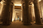 Colunas no templo de isis em filae em aswan — Foto Stock