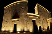 Entrance to the temple of Isis on Philae Island — Stock Photo