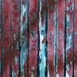 Stock Photo: Old Red chipping wood wall