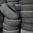 Old tire stack layers — Stok fotoğraf