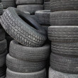 Stock Photo: Old tire stack layers